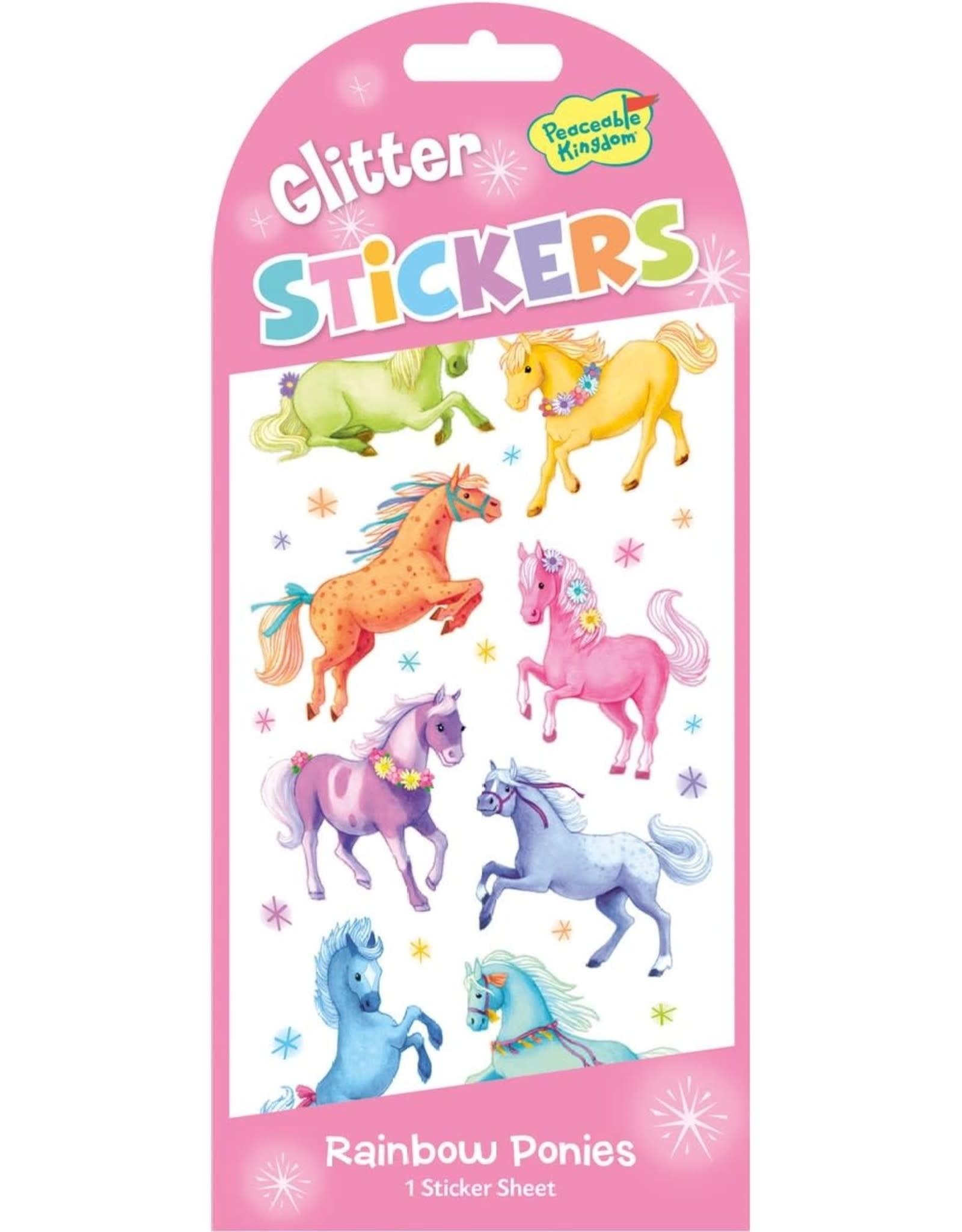 Peaceable Kingdom Glitter Pony Stickers