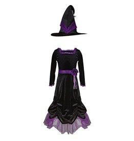 Great Pretenders Vera the Velvet Witch Dress & Hat, Size 3-4