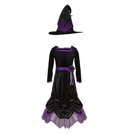 Great Pretenders Vera the Velvet Witch Dress & Hat, Size 5-6