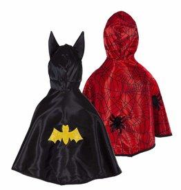 Great Pretenders Reversible Toddler Spider/Bat Cape, Age 2-3