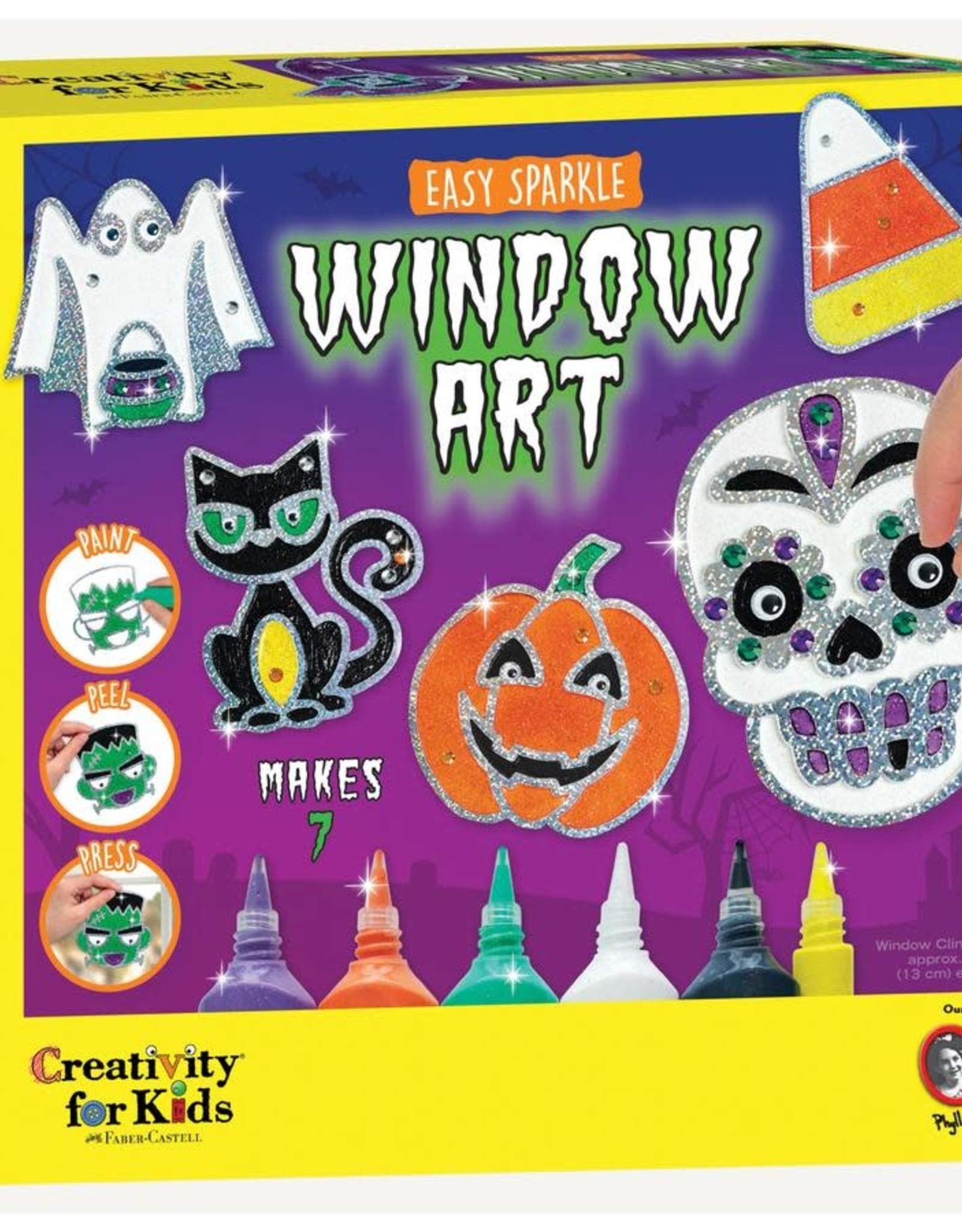 Creativity For Kids Halloween Easy Sparkle Window Art
