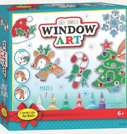 Creativity For Kids Christmas Easy Sparkle Window Art