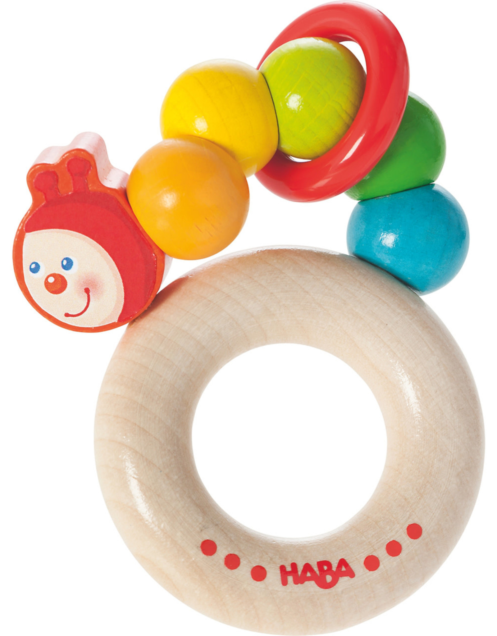 Haba Clutching Toy Rainbow Caterpillar