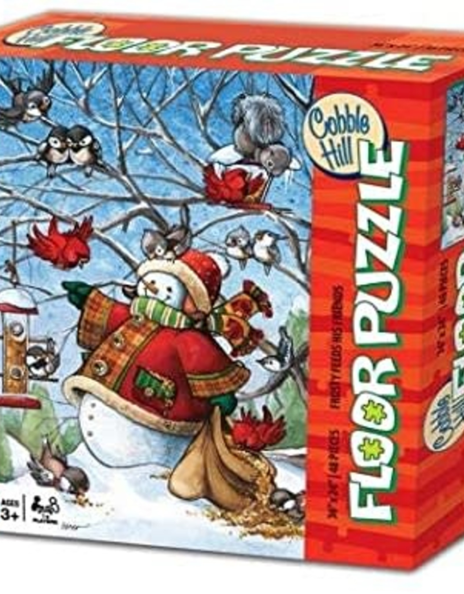 Cobble Hill Puzzles Frosty Feeds His Friends Floor Puzzle