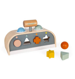 Janod Sweet Cocoon Tap Tap and Shape Sorter