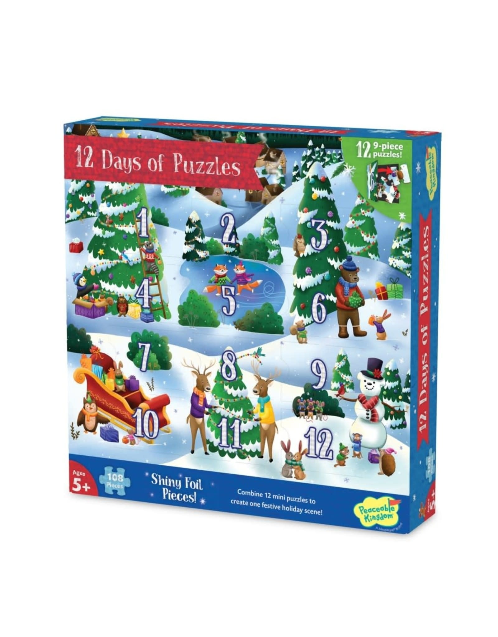 Peaceable Kingdom 12 Days of Puzzles