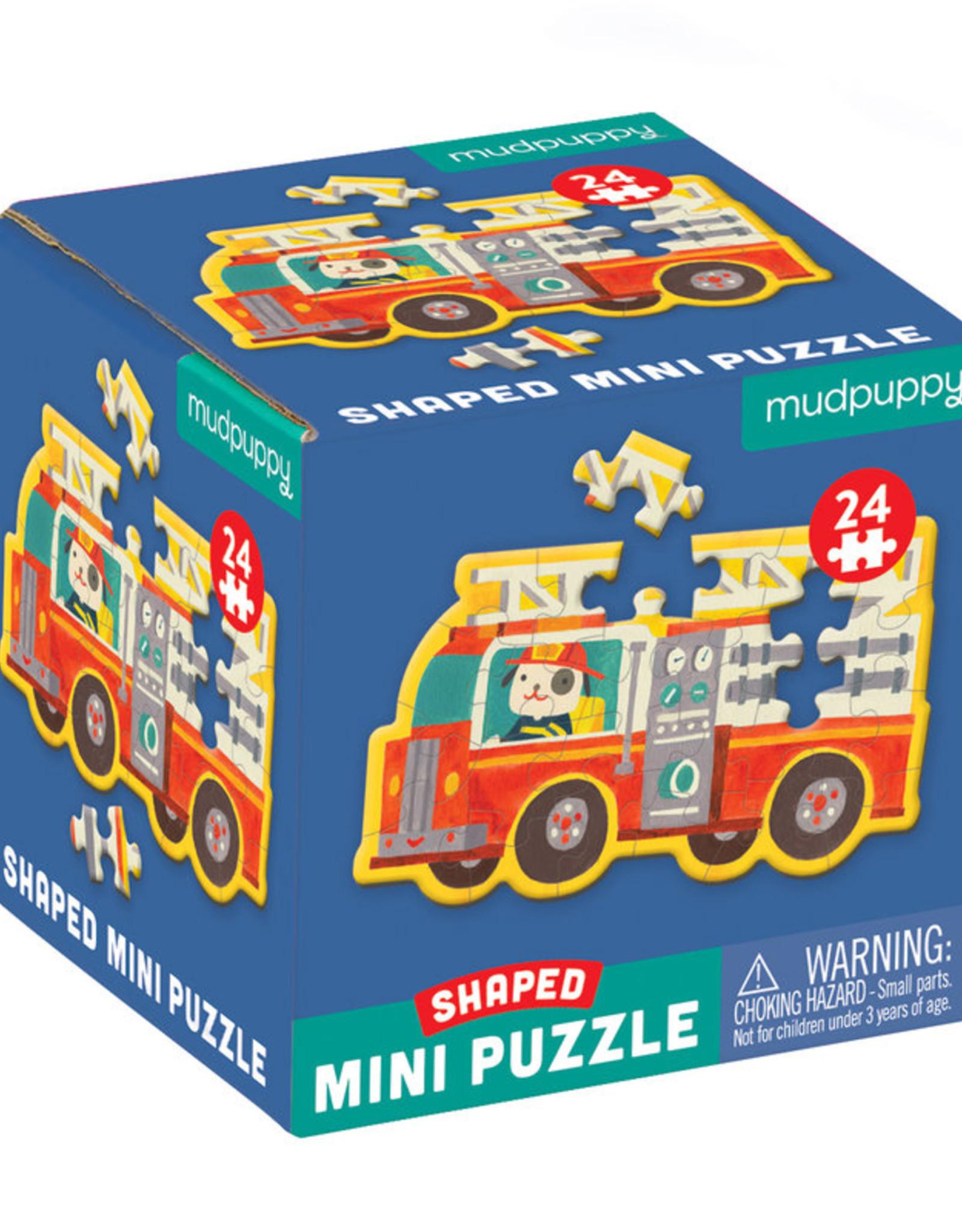 Mudpuppy Firetruck Shaped Mini Puzzle