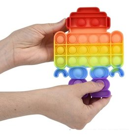 Bubble Popper Fidget Toy - Rainbow Robot