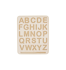 BeginAgain Wooden Letter Tracing Board - Uppercase