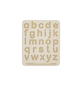BeginAgain Wooden Letter Tracing Board - Lowercase