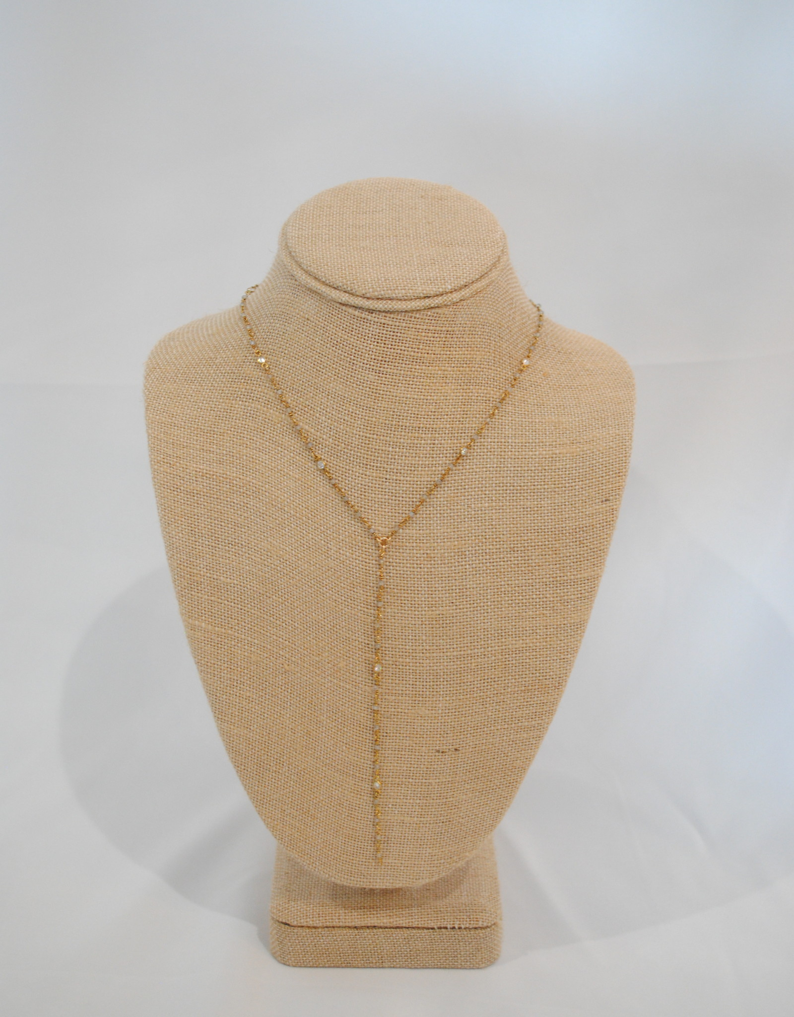 Joy Dravecky Gold chain with stone NY-1083