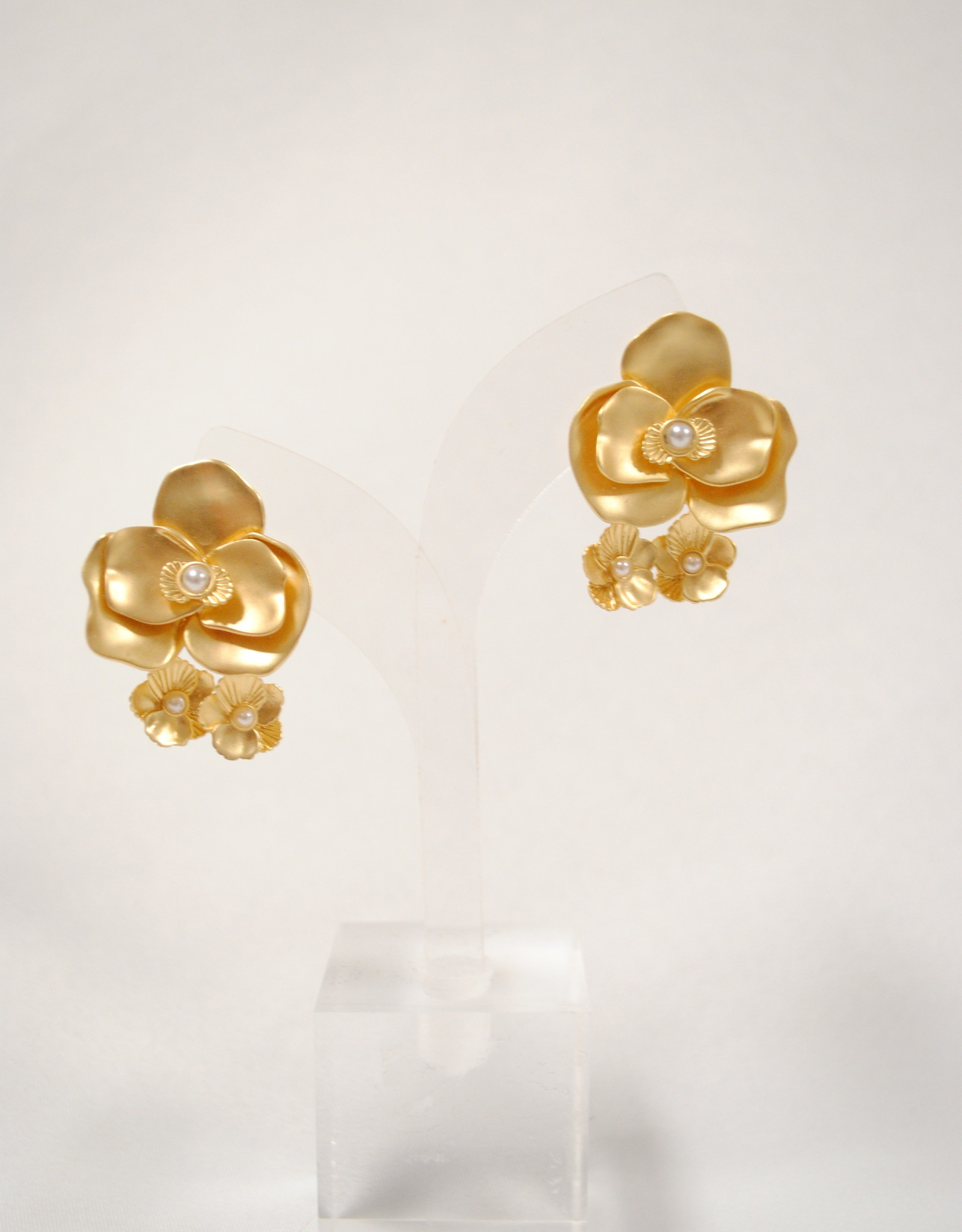 Anna Cate Gold and Pearl Earrings