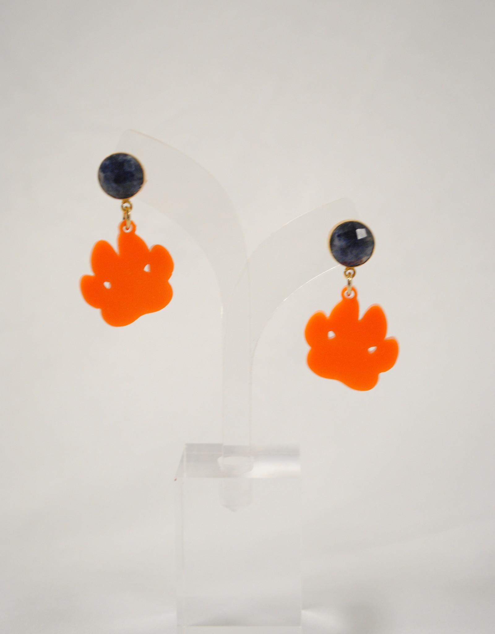 Team #RLN Mini Tiger Paw Acrylic Earrings
