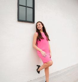 Julie Brown Popover Pink Dress