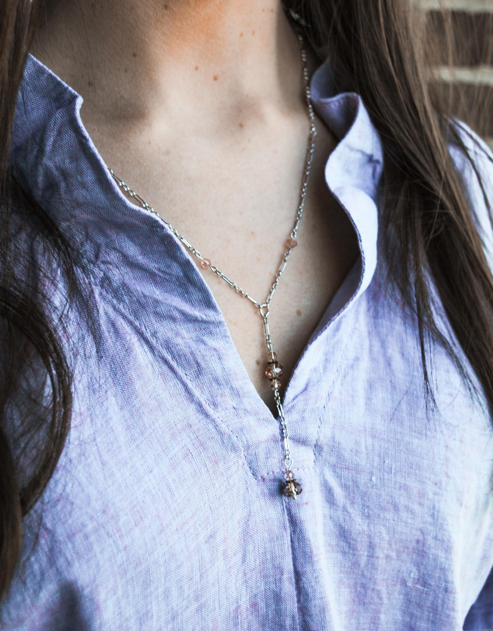 Melania Clara Ashlyn Silver Necklace