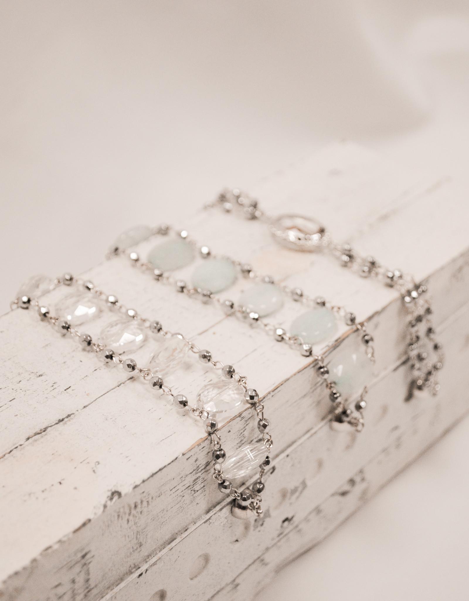 Melania Clara Clear Beaded Bracelet