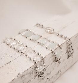 Melania Clara Silver Aqua Bracelet