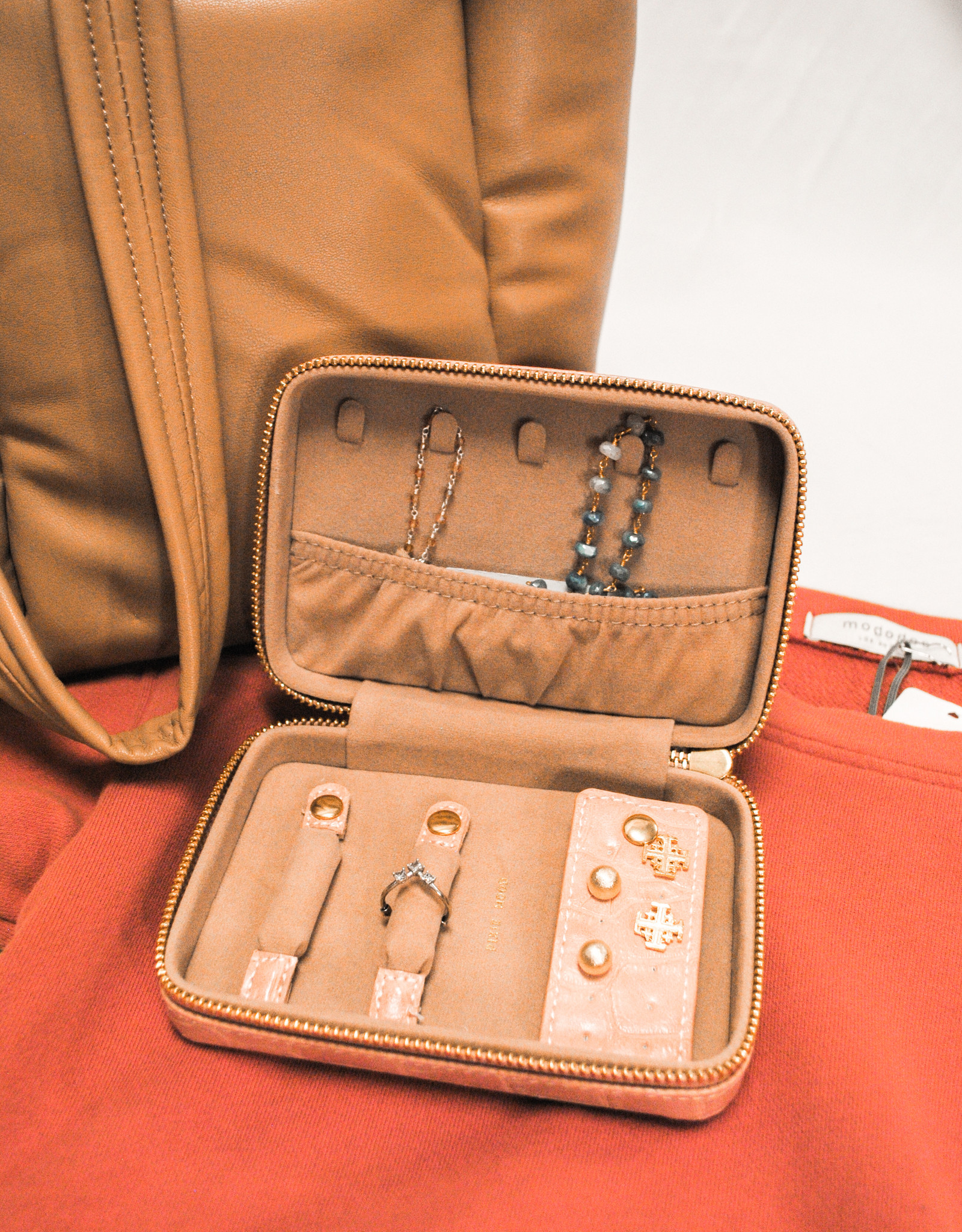Pixie Mood Brown Leather Jewelry Case
