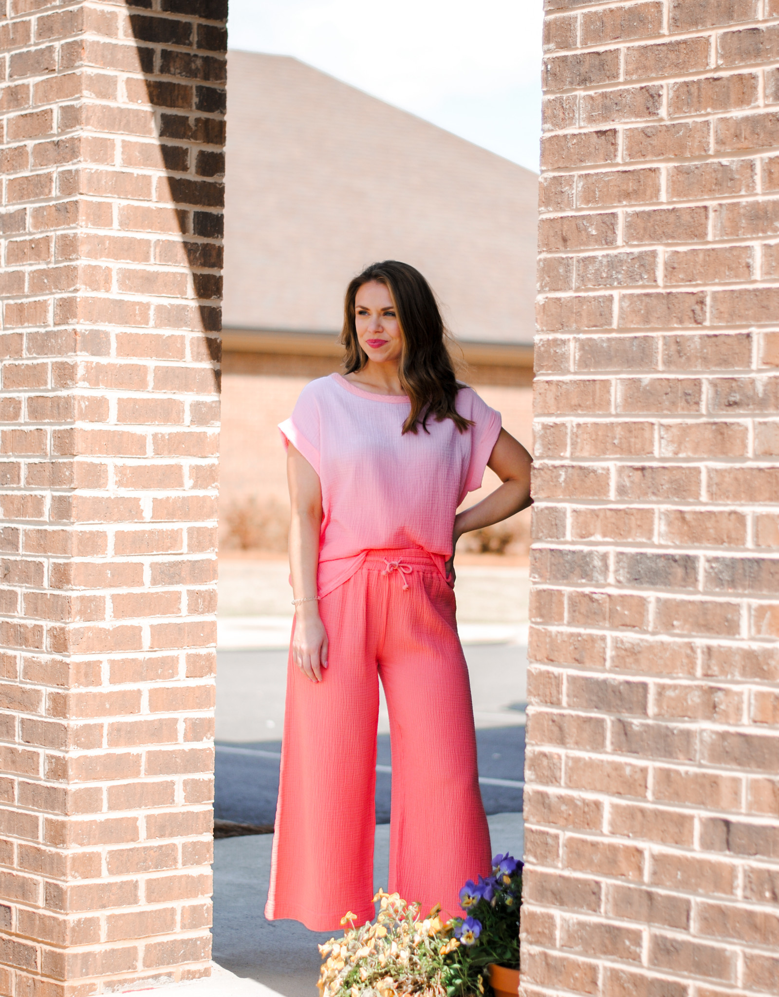 S'edge Coral Ombre Lydia Tee