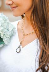 Melania Clara Yellow Beaded Necklace