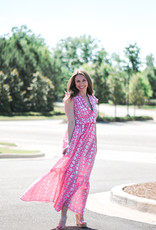 Anna Cate Maxi Coral Shell Dress