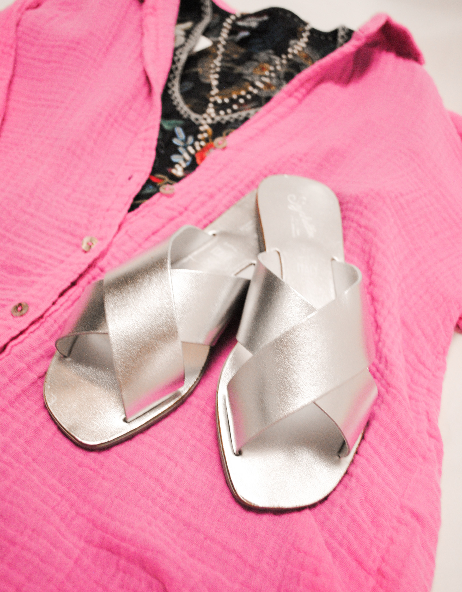 Seychelles Silver Sandal