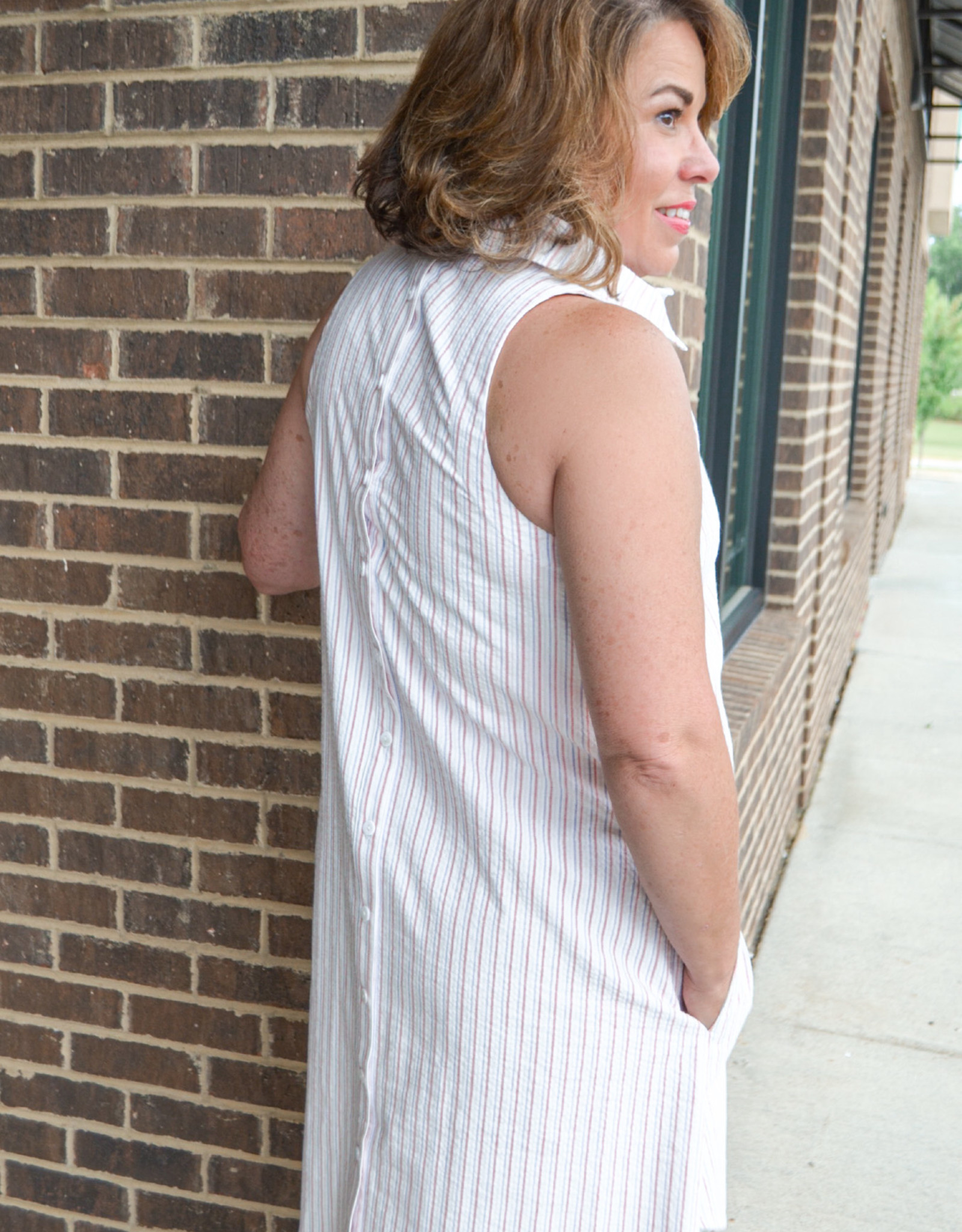 Finley White Multi Swing Dress