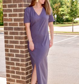 Lilla P Elbow Sleeve V-neck Dress