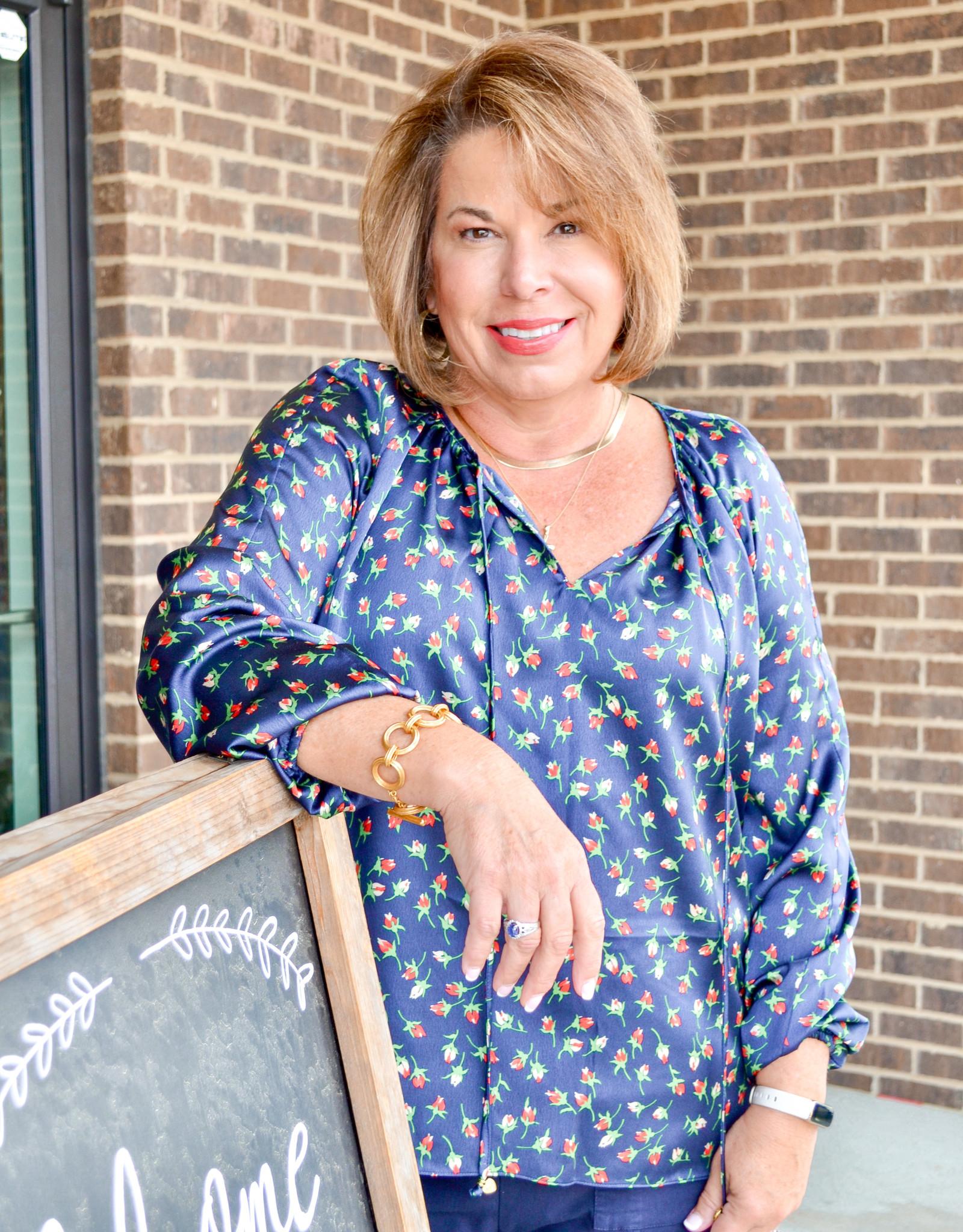 Julie Brown Wanderlust Rose Bud Blouse