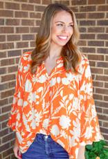 Olivia James Emory Amber Floral Blouse
