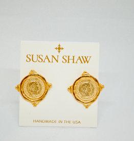 Susan Shaw Coin Earrings
