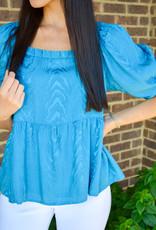 Crosby Bohemian Blue Liza Top