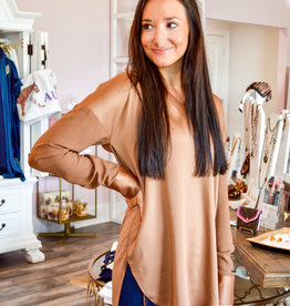Lysse Copper Pull Over Top