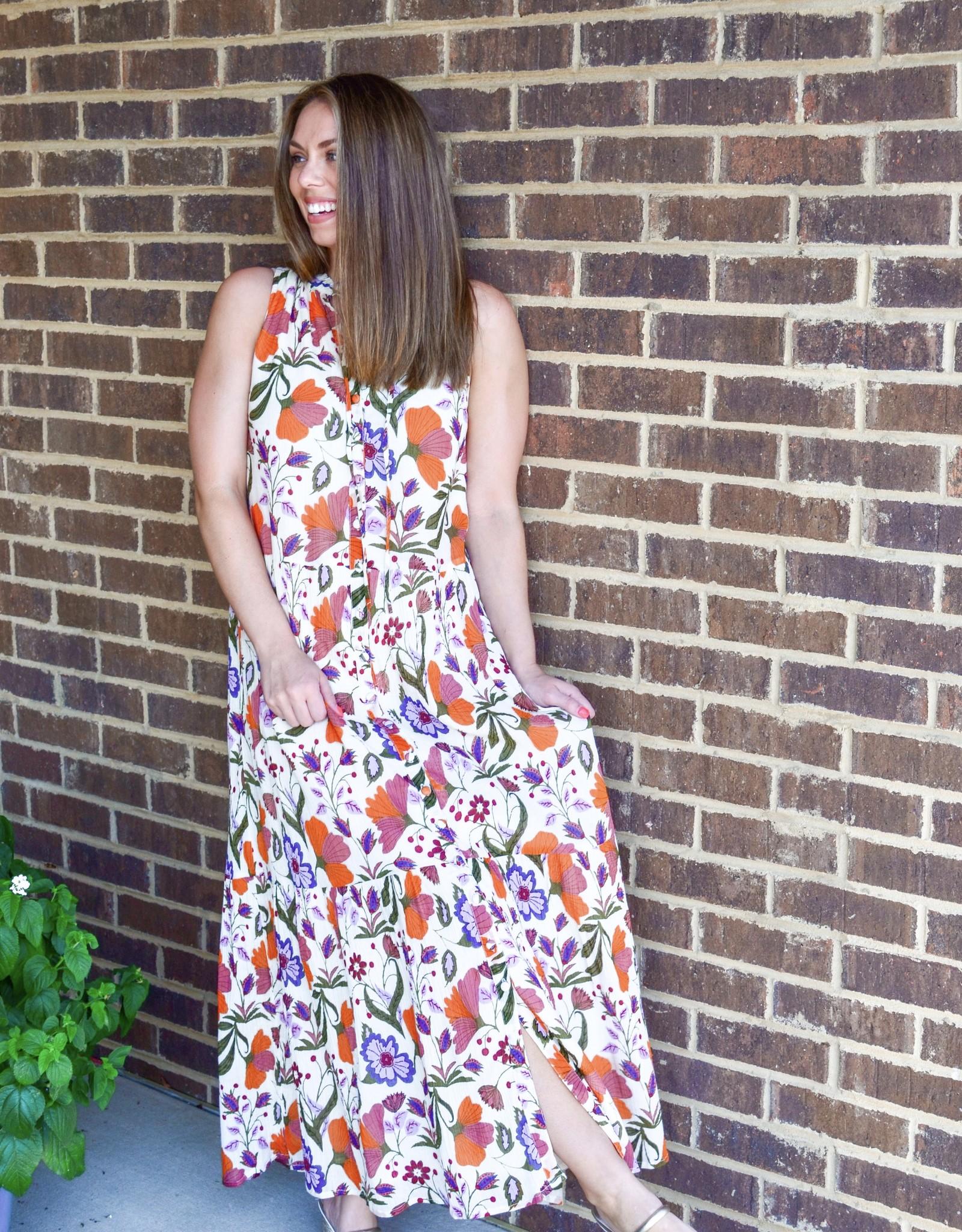 Olivia James Ro Almond Fall Floral Dress