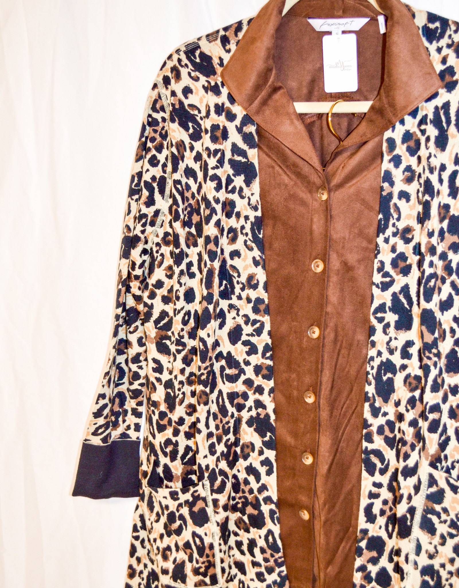 Foxcroft Brown Suede Blouse