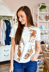 Queen of Sparkles Crawling Tiger T-Shirt