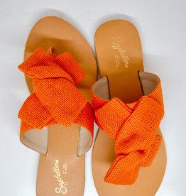 Seychelles Orange Burlap