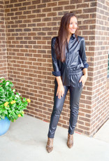 Elliott Lauren Black Faux Leather Pant