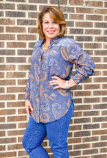 Charlie B Long Sleeve Button Up Blouse