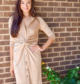 Gretchen Scott Ultra Suede Twist Dress
