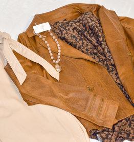 Charlie B Vintage Faux Leather Jacket