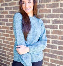 Molly Bracken Duck Blue Sweater