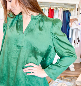 Current Air Jewel Green Blouse