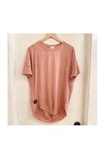 Freeloader French Terry SS Top- Mauve