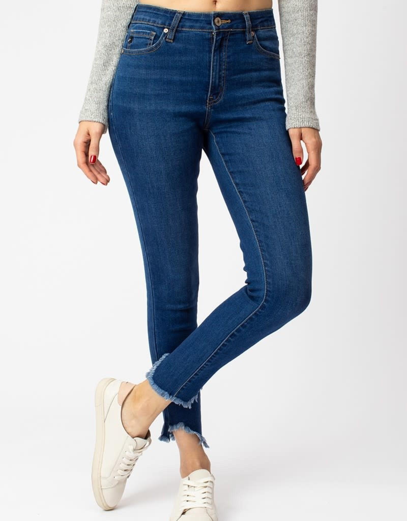 KanCan High Rise Fray Ankle Skinny Jean-