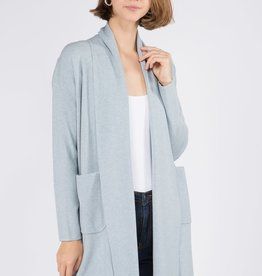 Miss Bliss Open Cardigan With Pockets- H.Stratosphere