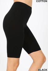 Miss Bliss Cotton Bermuda Shorts- Black