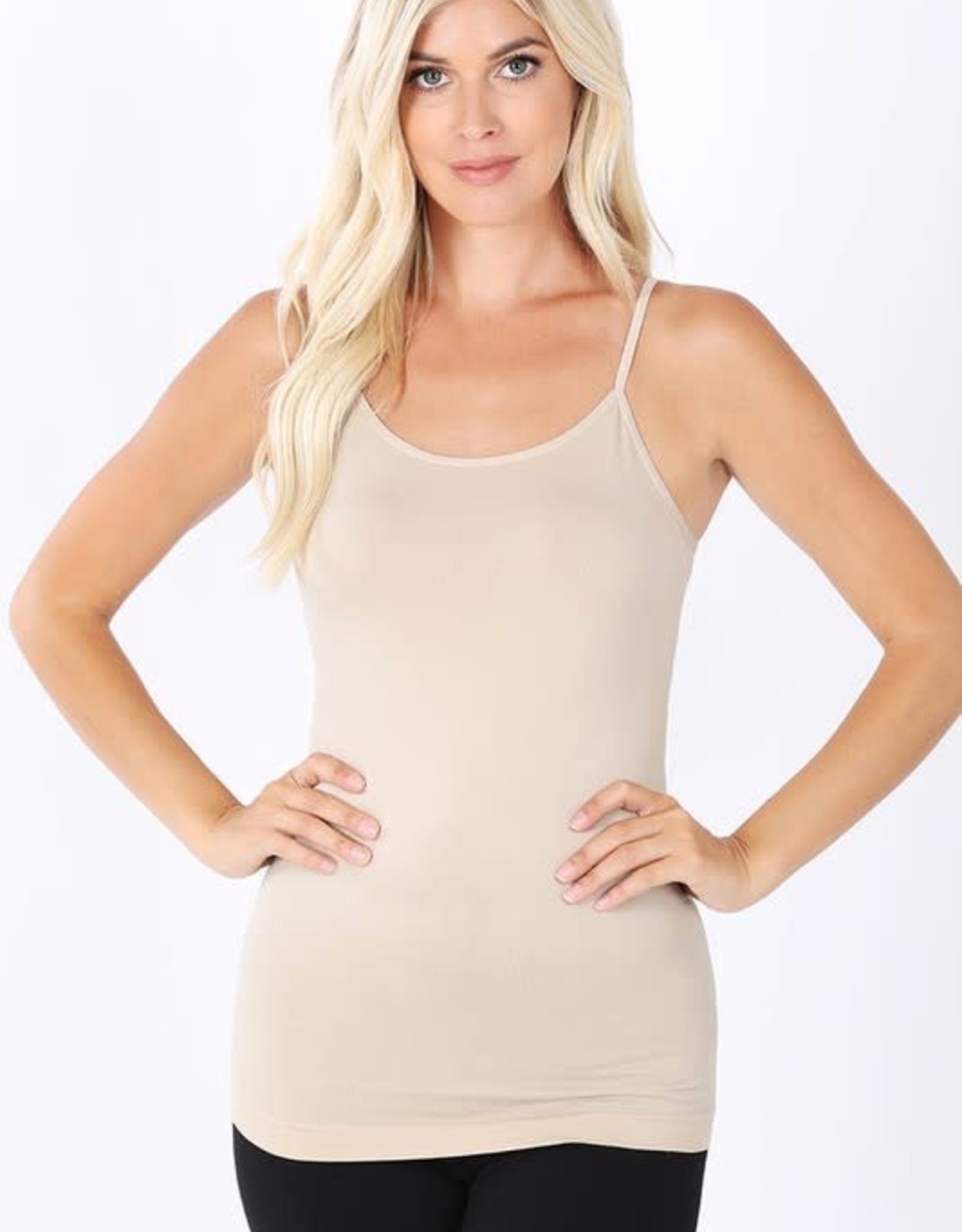 Miss Bliss Seamless Adjustable Strap Cami-Grey