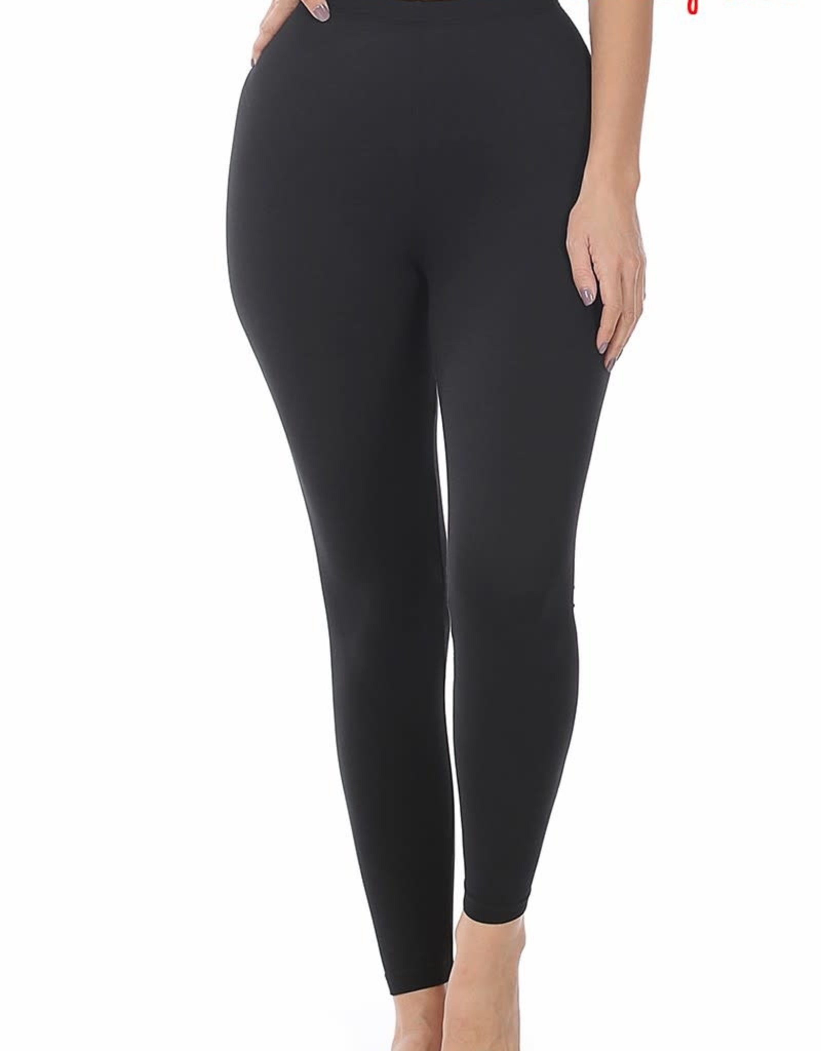 Miss Bliss Brushed Microfibre Full Length leggings- Black