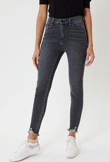 Miss Bliss High Rise Skinny Faded Black-